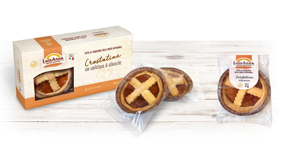 Crostatina gusto albicocca senza glutine LuisAnna gluten free
