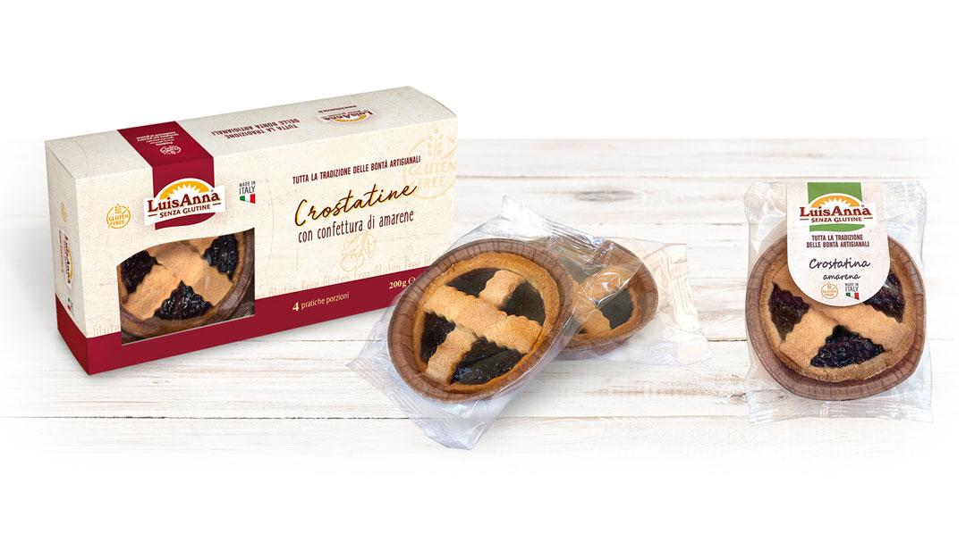 Crostatina gusto amarene senza glutine LuisAnna gluten free