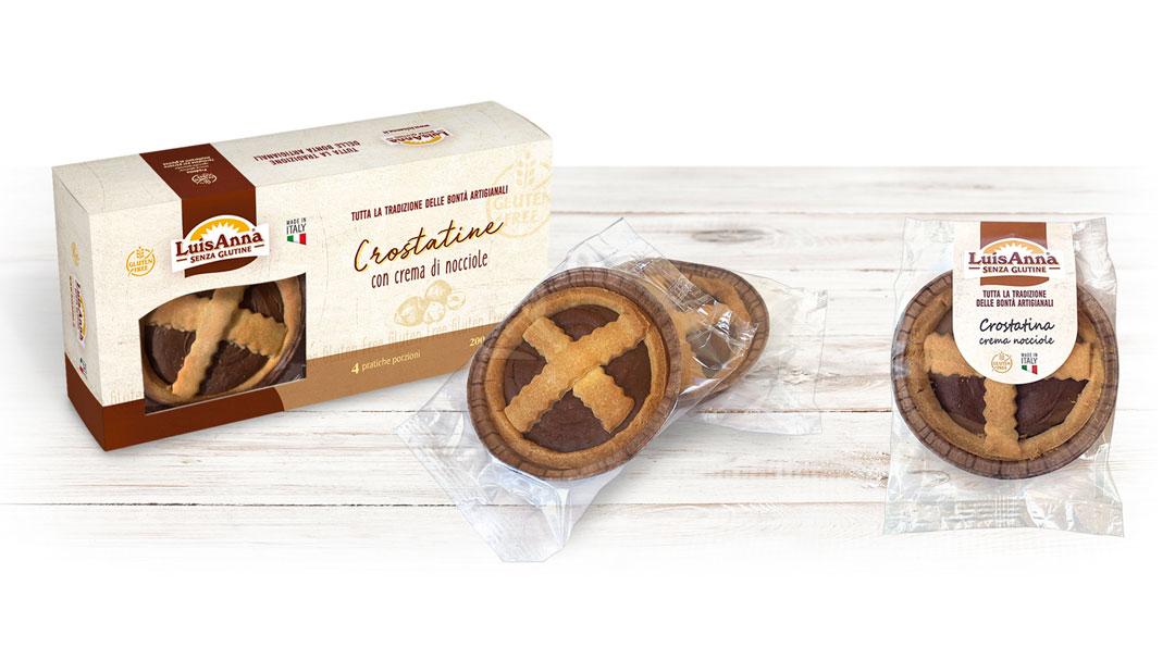 Crostatina Crema di nocciole senza glutine LuisAnna gluten free