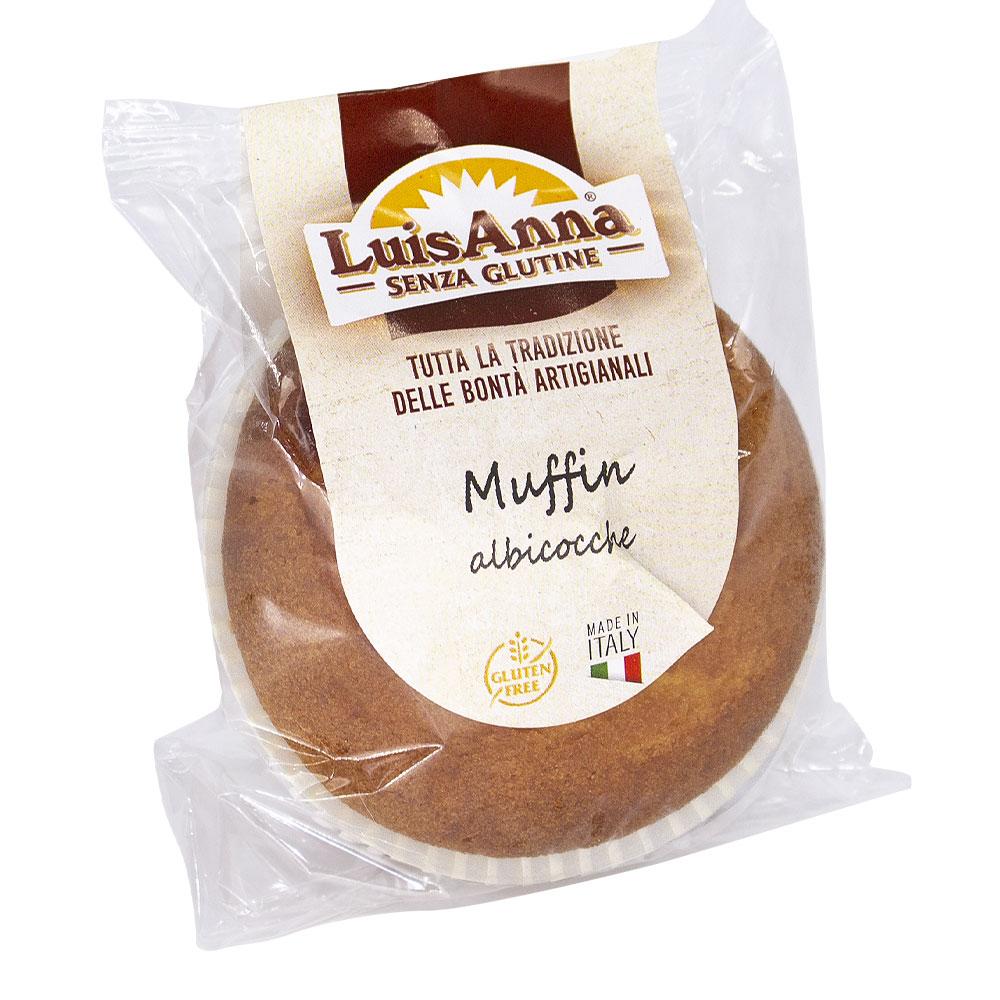 Monoporzione Muffin albicocca senza glutine LuisAnna gluten free