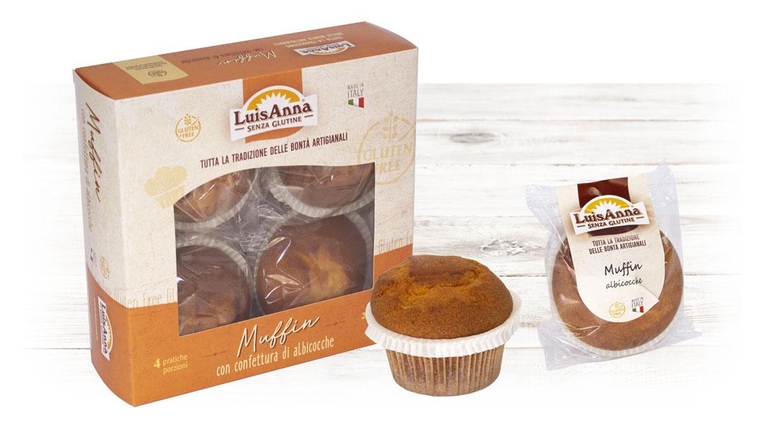 Muffin albicocca senza glutine LuisAnna gluten free