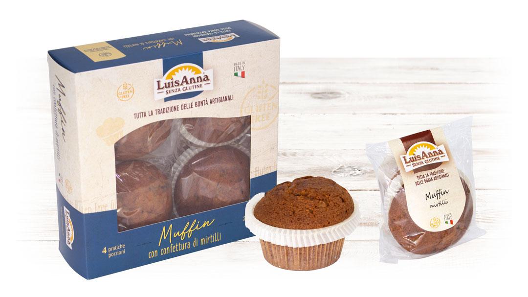 Muffin mirtillo senza glutine LuisAnna gluten free