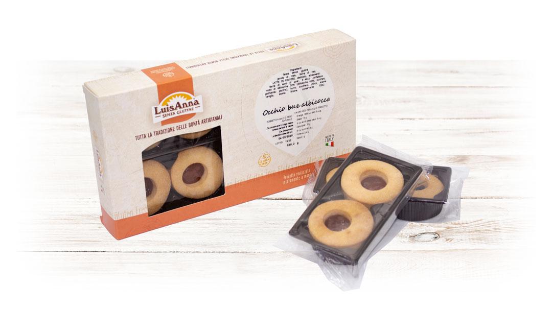 Occhio di bue albicocca senza glutine LuisAnna gluten free