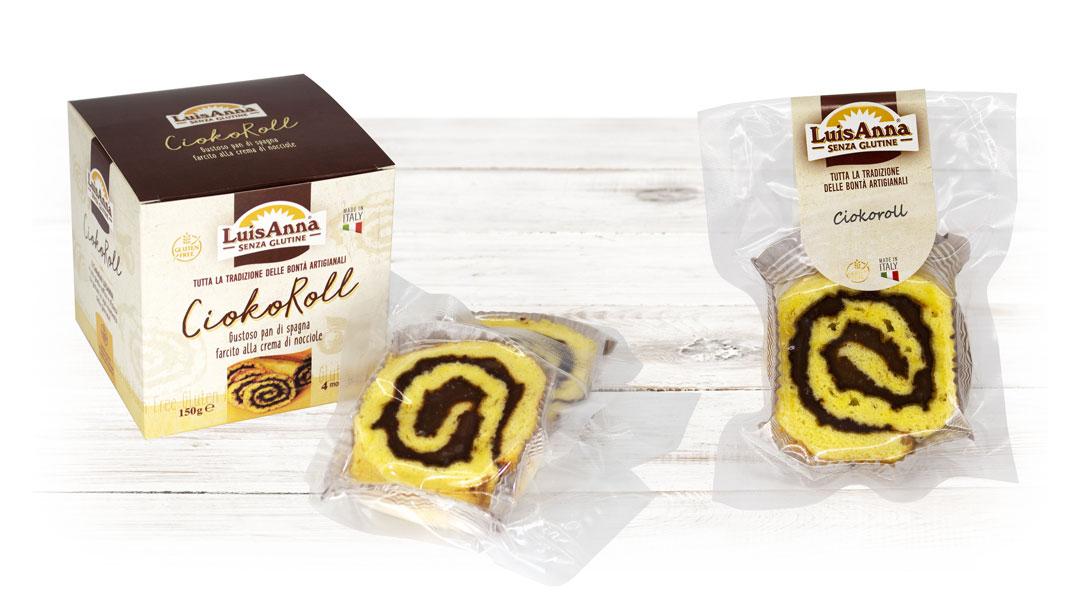 Mono porzione - CiokoRoll - Pan di spagna senza glutine Luisanna Gluten Free