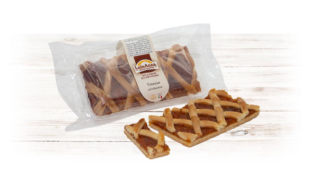 Trancio di crostata gusto albicocca senza glutine LuisAnna gluten free